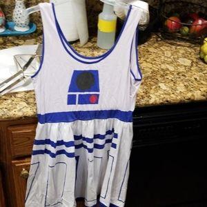 Hot topic skater dress R2-D2